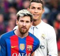 Lionel Messi junto a Cristiano Ronaldo.