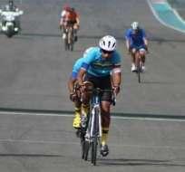 David Arellano en competencia.