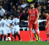 Valencia festeja un tanto del partido.