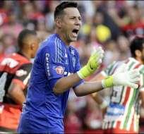Diego Alves, durante un partido con el Flamengo.