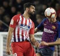 El delantero hispano-brasileño fue expulsado en el encuentro ante el FC Barcelona. Foto: LLUIS GENE / AFP