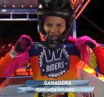 Domenica Azuero, ciclista ecuatoriana.
