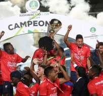 Varios portales internacionales informaron sobre el título de Ecuador en el Sudamericano sub-20. Foto: CLAUDIO REYES / AFP
