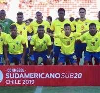 Cuadro de la Sub-20 previo a un partido en el Sudamericano.