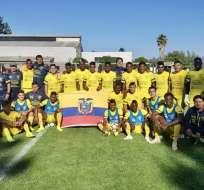 La 'MiniTri' debuta ante Paraguay en el grupo B del torneo que se realiza en Chile. Foto: Tomada de @FEFecuador