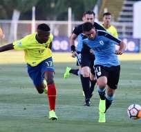 Ecuador no pudo ante Uruguay en la tarde de este domingo. Foto: Cuenta Twitter de la Federación Ecuatoriana de Fútbol