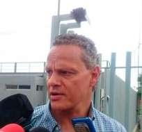 El dirigente de Liga de Quito mostró su enojo ante las declaraciones de Vallecilla. Foto: Archivo