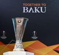 La UEFA realizó el sorteo de esta copa en Nyon, Suiza. Foto: Fabrice COFFRINI / AFP