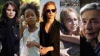 Jennifer Lawrence, Naomi Watts , Jessica Chastain, Emmanuelle Riva y Quvenzhané Wallis, las cinco nominadas a Mejor Actriz de los premios de la Academia.