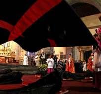 """Se celebró el ritual del """"arrastre de caudas"""" en Quito. Foto: API"""