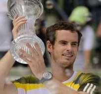 Murray gana el título en Miami y asciende al número 2 del mundo. Foto: EFE