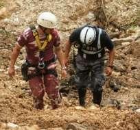 Hallan dos cuerpos más en la zona del deslave en Zamora Chinchipe. Foto: API