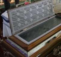 Se realizó sepelio de padre e hijo que murieron en deslave de Zamora Chinchipe. Foto: API
