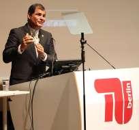 Presidente Correa cumplió su primer día de visita oficial a Alemania. Foto: EFE