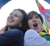 """Parlamento de Francia da el """"sí"""" al matrimonio homosexual. Foto: EFE"""