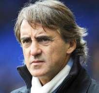 El técnico del Manchester City, el italiano Roberto Mancini. Foto: EFE