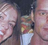 Ricky Martin junto a su exnovia, la modelo Inés Misan.