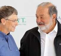 Bill Gates vuelve a ser el más rico del mundo por encima de Carlos Slim. Foto: EFE