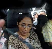 Ingrid León es acusada de ser la autora intelectual del crimen de Fausto Valdiviezo. Foto: API