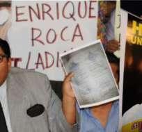 GUAYAQUIL.- Pedro Buitrón, abogado del detenido José Enrique Roca Ladines, acusado por el asesinato del periodista Fausto Valdiviezo. Foto: API,