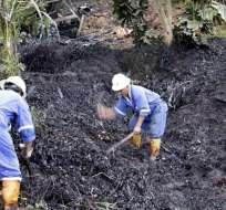 La rotura del Oleoducto Transecuatoriano ocasionó el derrame de 10.000 barriles de petróleo. Foto: API