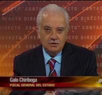 El fiscal general del Estado, Galo Chiriboga.