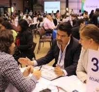 Empresarios de todo el mundo están en el país para concretar negocios. Foto: Tomada de la cuenta @Pro_Ecuador