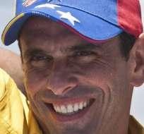 El líder de la oposición venezolana, Henrique Capriles. Foto: EFE