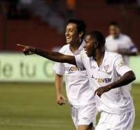 QUITO.- Édison Mendéz marcó el único gol del partido ante los criollos. Fuente: API