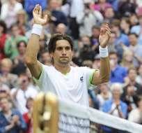 LONDRES - Inglaterra.- Ferrer sufre ante el debutante Alund en la primera ronda de Wimbledon. Fuente EFE