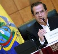 El ministro de Relaciones Exteriores de Ecuador, Ricardo Patiño. Foto: EFE