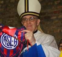 El Papa Francisco es hincha de San Lorenzo de Almagro desde su infrancia. Foto: EFE