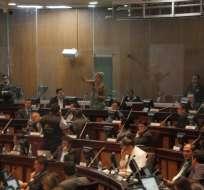 Los asambleístas de Alianza PAIS analizan la reforma para la reeleción presidencial. Foto: API