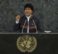 """Evo Morales propone crear un """"tribunal de los pueblos"""" para juzgar a Obama. Foto: EFE"""