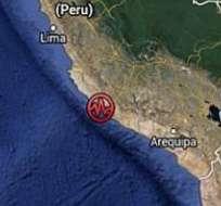 Sismo de 6,9 grados deja 6 heridos y daños en el sur de Perú.