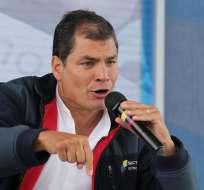 """PEGUCHE, Imbabura.- El primer mandatario calificó a los TBI de """"verdaderos atentados a la soberanía"""" de los países latinoamericanos. Foto: Presidencia de la República"""