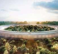 TECNOLOGÍA.- La estructura más sobresaliente del Campus 2 es el enorme edificio con forma de anillo.