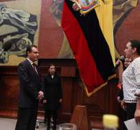 QUITO, Ecuador.- Durante el acto de posesión de Carlos Ochoa, en el pleno de la Asamblea Nacional. Fotos: Asamblea Nacional