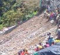 4 muertos y 15 desaparecidos deja el derrumbe de mina en Colombia. Foto: @NoticiasCaracol