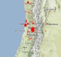Sismo de 6,5 grados sacude centro de Chile y provoca cortes de luz.