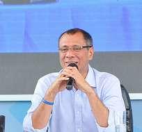CHONE, Ecuador.- El vicepresidente durante su enlace ciudadano, en reemplazo de Rafael Correa, quien está de gira por Europa. Foto: Vicepresidencia de la República