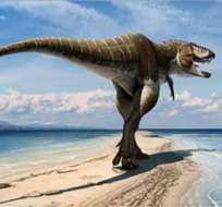 Recreación artística de la nueva especie de tiranosaurio Lythronax Argestes.