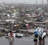 Haiyan, el tifón más potente del año, ha dejado un reguero de desolación a su paso por la región central de Filipinas. Foto: EFE.