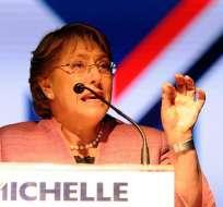 Michellet Bachelet gana en las quince regiones de Chile y con mayoría absoluta en nueve. Foto: EFE