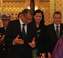 NUEVA DELHI, India.- El segundo mandatario ecuatoriano arribó a la India este sábado 7 de diciembre. Foto: Vicepresidencia de la República