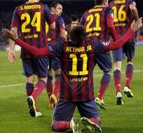 BARCELONA, España.- El poderoso Barcelona golea al Celtic con una gran actuación de Neymar. Foto EFE