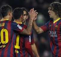 Barcelona avanzó con comodidad a octavos de la Copa del Rey. Foto: EFE