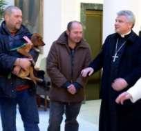 VATICANO. Según información del Vaticano, los cuatro indigentes fueron seleccionadas de un barrio cercano al Vaticano. Foto: Internet