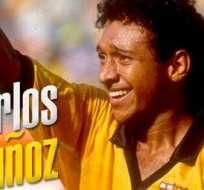GUAYAQUIL, Ecuador.- Hoy se cumplen 20 años del fallecimiento del delantero amarillo, Carlos Muñoz. Foto: @BarcelonaSCweb