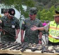 ECUADOR.- En 2013, 4.126 armas de fuego fueron decomisadas. Fotos: Archivo